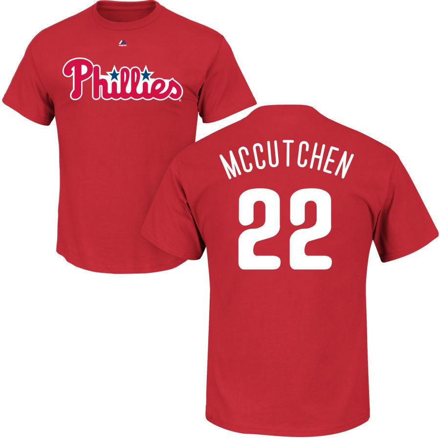 premium selection 202a5 dd679 Andrew McCutchen T-Shirt - Red Philadelphia Phillies Adult T-Shirt