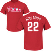 Andrew McCutchen T-Shirt - Red Philadelphia Phillies Adult T-Shirt