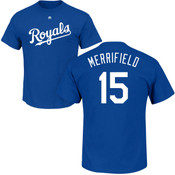 Whit Merrifield T-Shirt - Blue Kansas City Royals Adult T-Shirt