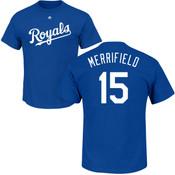 Whit Merrifield T-Shirt - Blue Kansas City Royals Adult T-Shirt
