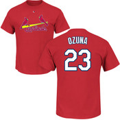 Marcell Ozuna T-Shirt - Red St Louis Cardinals Adult T-Shirt