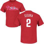 Jean Segura Youth T-Shirt - Red Philadelphia Phillies Kids T-Shirt