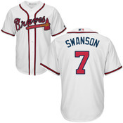 Dansby Swanson Jersey - Atlanta Braves Replica Adult Home Jersey