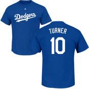 Justin Turner T-Shirt - Blue LA Dodgers Adult T-Shirt