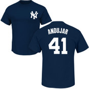 Miguel Andujar T-Shirt - Navy NY Yankees Adult T-Shirt