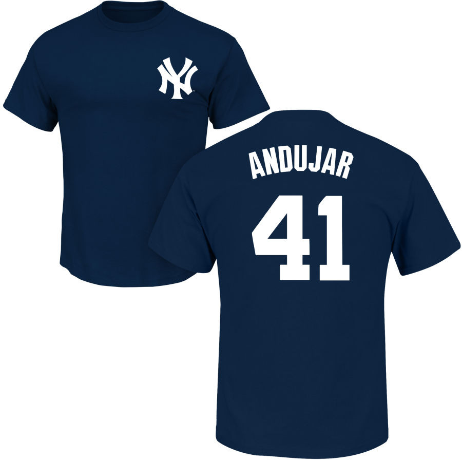Miguel Andujar Youth T-Shirt - Navy NY Yankees Kids T-Shirt photo