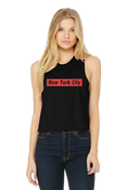 New York City Crop Tank - Black Supreme