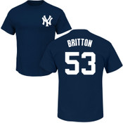 Zack Britton T-Shirt - Navy NY Yankees Adult T-Shirt
