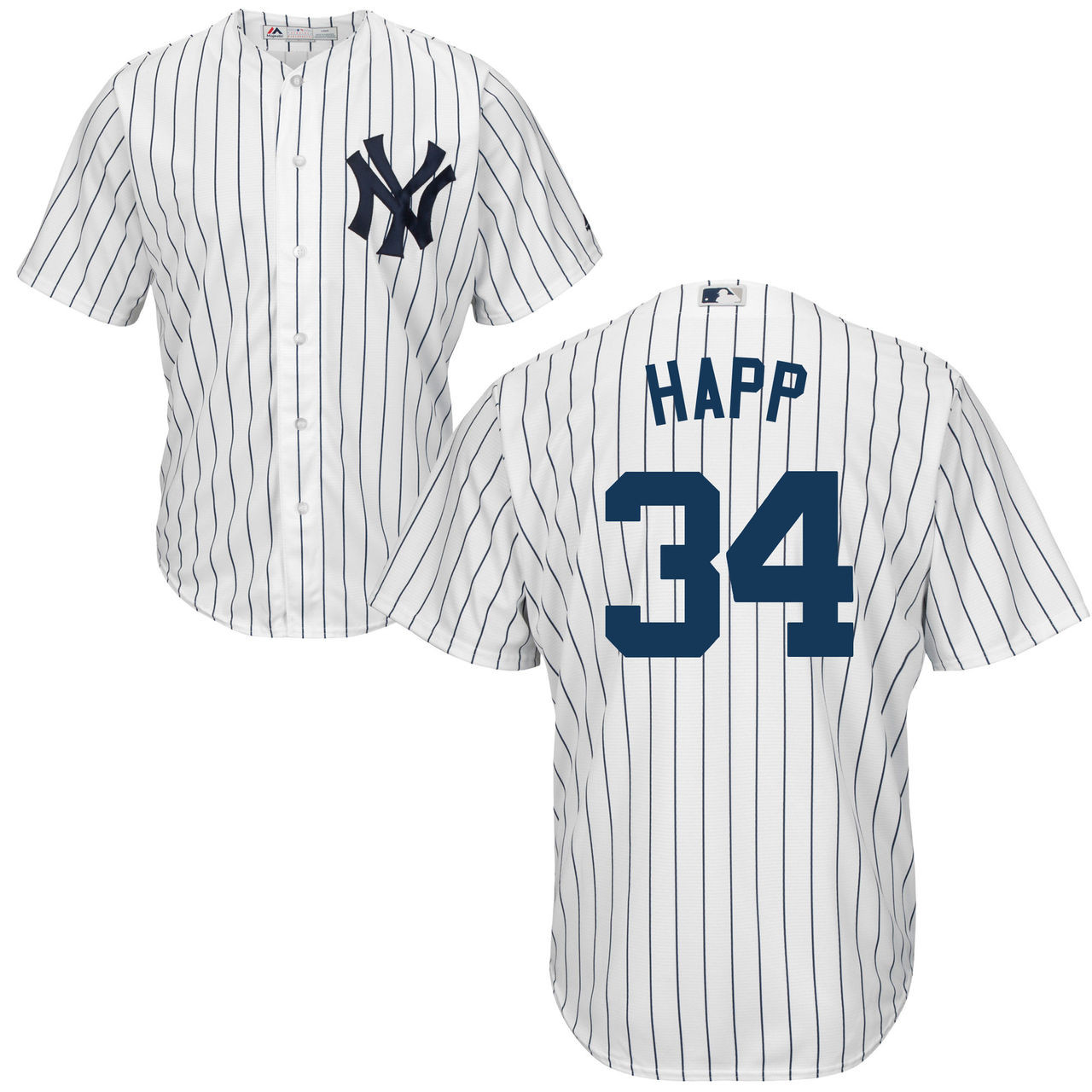 uk availability 9957a 987c6 J.A. HAPP Youth Jersey - NY Yankees Replica Kids Home Jersey