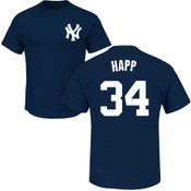 J.A. HAPP T-Shirt - Navy NY Yankees Adult T-Shirt
