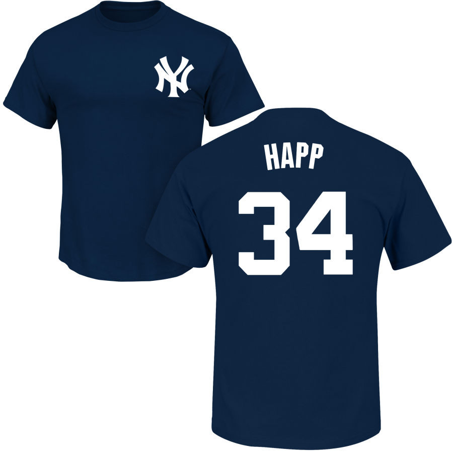 J.A. HAPP Youth T-Shirt - Navy NY Yankees Kids T-Shirt photo