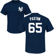 James Paxton T-Shirt - Navy NY Yankees Adult T-Shirt
