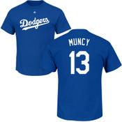 Max Muncy Youth T-Shirt - Blue LA Dodgers Kids T-Shirt