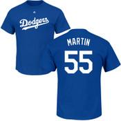 Russel Martin T-Shirt - Blue LA Dodgers Adult T-Shirt