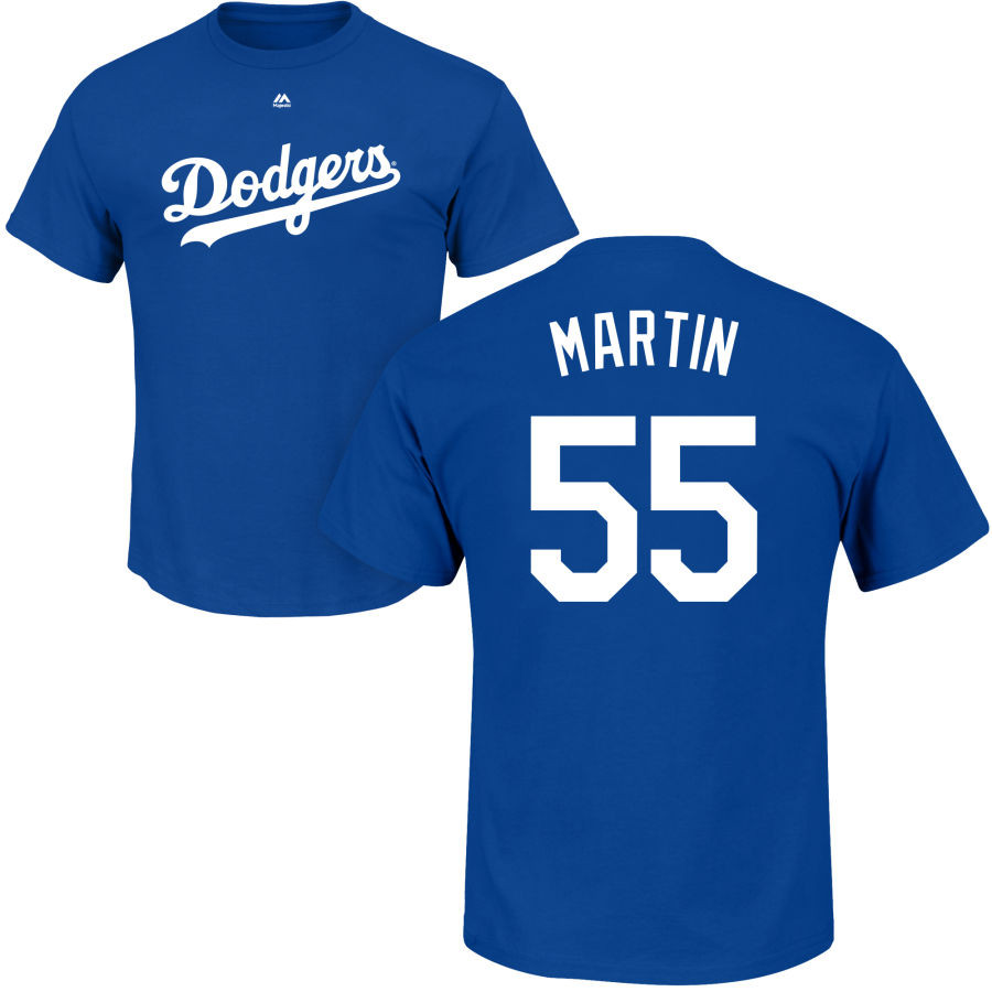Russel Martin Youth T-Shirt - Blue LA Dodgers Kids T-Shirt photo