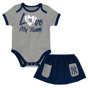 Yankees Love My Team Creeper and Tennis Skirt