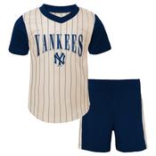 Yankees Kids Cooperstown Short Set - Throwback