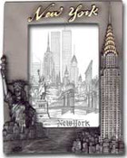 NY Skyline Pewter Picture Frame #3