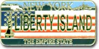Liberty Island License Plate Magnet Photo