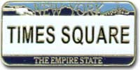 Times Square License Plate Magnet Photo