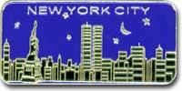 NYC Skyline Night Magnet Photo