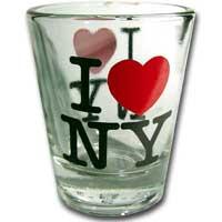 I Love NY Glass Shotglass Photo