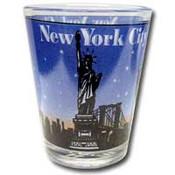 NYC Skyline Blue Shotglass