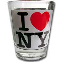 I Love NY White Shotglass Photo