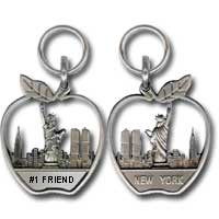 #1 Friend Apple Zipper Pull Photo