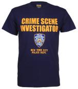 Crime Scene Investigator Navy Tee