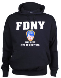 FDNY Full Chest Navy Hooded Sweatshirt Photo