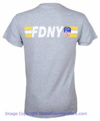 FDNY Stripe Ash Tee - back Photo