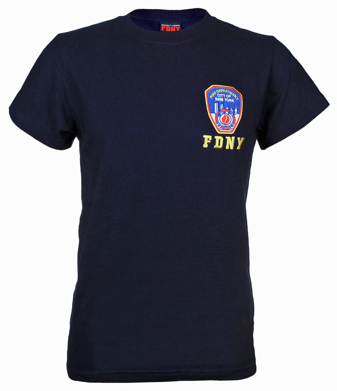 FDNY Embroidered Patch Navy Tee photo