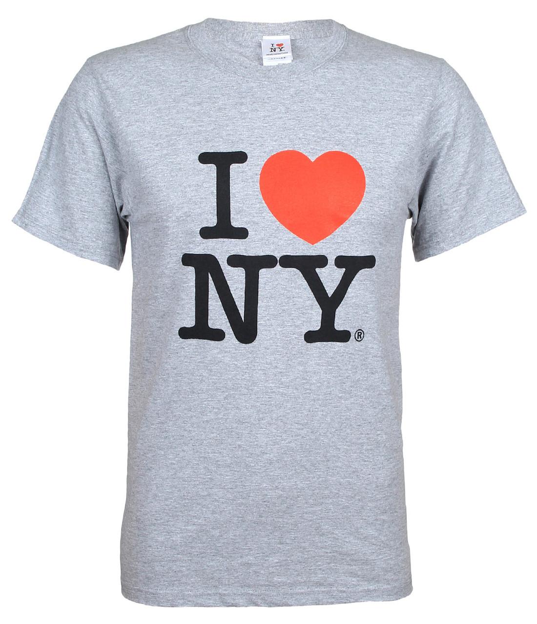 grey I Love NY Tee Shirt photo