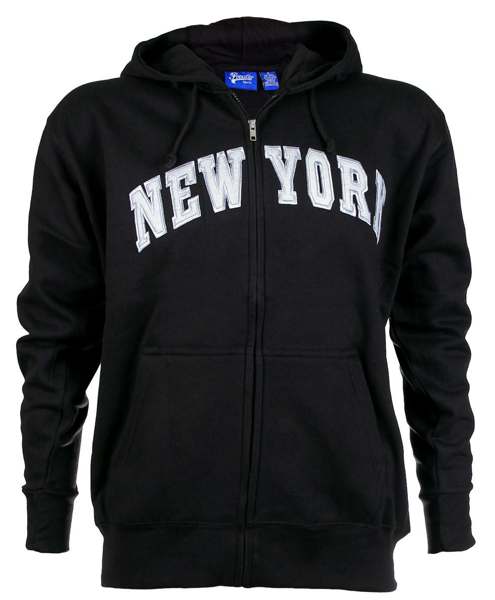 New York Black Zipper Hoodie photo