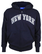 New York Navy Zipper Hoodie