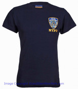 NYPD Embroidered Patch Navy Tee