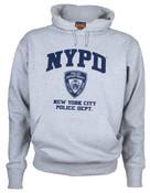 NYPD Full Chest Ash Hooded Sweatshirt
