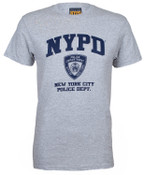 NYPD Grey Full Chest Tee