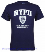 NYPD Full Chest Navy Tee