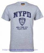 NYPD Distressed Ash Tee