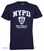 NYPD Distressed Navy Tee