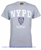 NYPD Full Chest Color Shield Ash Tee