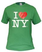 Green I Love NY Tee Shirt