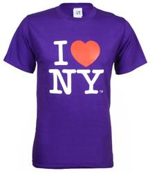 Purple I Love NY Tee Shirt Photo