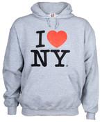 I Love NY Ash Hooded Sweatshirt