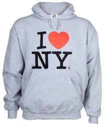 I Love NY Ash Hooded Sweatshirt Photo