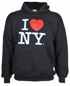 I Love NY Black Hooded Sweatshirt