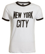 New York City White Ringer Tee