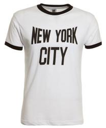 New York City White Ringer Tee Photo